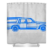 Station Wagon Shower Curtain by Naxart Studio