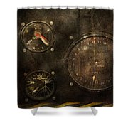 Steampunk - Check Your Pressure Shower Curtain by Mike Savad