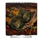 Steampunk - Extendo Optics  Shower Curtain by Mike Savad