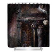 Steampunk - Handling Pressure  Shower Curtain by Mike Savad