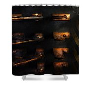 Steampunk - Pull The Switch Shower Curtain by Mike Savad