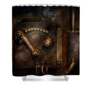 Steampunk - The Control Room  Shower Curtain by Mike Savad