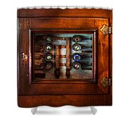 Steampunk - Electrical - The fuse panel Shower Curtain by Mike Savad