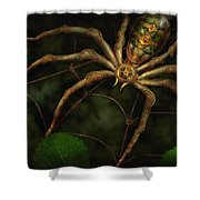 Steampunk - Spider - Arachnia Automata Shower Curtain by Mike Savad