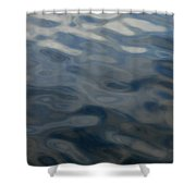 Steel Blue Shower Curtain by Donna Blackhall