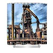 Steel Stacks Bethlehem Pa. Shower Curtain by DJ Florek