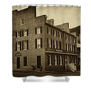 Stephensons Hotel - Harpers Ferry  West Virginia Shower Curtain by Bill Cannon