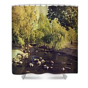 Stepping Stones To My Heart Shower Curtain by Laurie Search