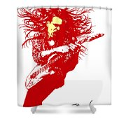 Steve Vai No.01 Shower Curtain by Caio Caldas