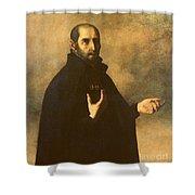 St.ignatius Loyola Shower Curtain by Francisco de Zurbaran