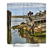 Still Afloat Shower Curtain by Heather Applegate