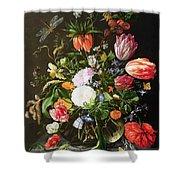 Still Life Of Flowers Shower Curtain by Jan Davidsz de Heem
