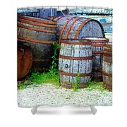 Still Life With Barrels Shower Curtain by RC DeWinter