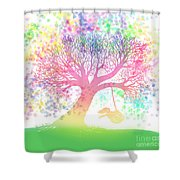 Still More Rainbow Tree Dreams 2 Shower Curtain by Nick Gustafson