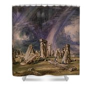 Stonehenge Shower Curtain by John Constable