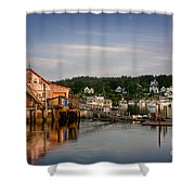 Stonington Lobster Co-op Shower Curtain by Susan Cole Kelly