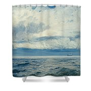 Storm Brewing Shower Curtain by Henry Moore