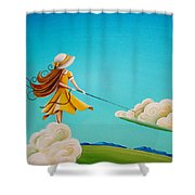 Storm Development Shower Curtain by Cindy Thornton