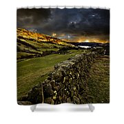 Storm Over Windermere Shower Curtain by Meirion Matthias