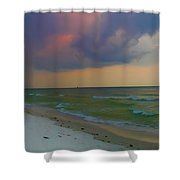 Storm Warning Shower Curtain by Bill Cannon