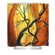 Striving To Be The Best By Madart Shower Curtain by Megan Duncanson