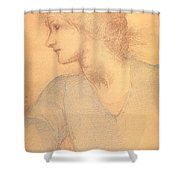 Study in Colored Chalk Shower Curtain by Sir Edward Burne-Jones