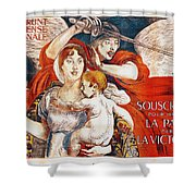 Subscribe To Hasten Peace By Victory Shower Curtain by Paul Albert Besnard