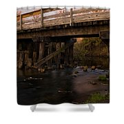 Sugar River Trestle Wisconsin Shower Curtain by Steve Gadomski