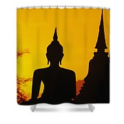 Sukhothai Temple Shower Curtain by Gloria & Richard Maschmeyer - Printscapes