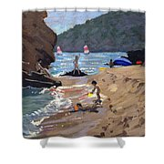 Summer In Spain Shower Curtain by Andrew Macara