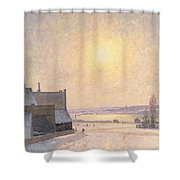 Sun And Snow Shower Curtain by Per Ekstrom