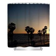 sun going down in california Shower Curtain by Ralf Kaiser