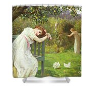 Sunday Afternoon - Ladies In A Garden Shower Curtain by English School