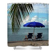 Sunday Morning At The Beach In Key West Shower Curtain by Susanne Van Hulst