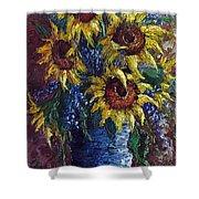 Sunflower Bouquet Shower Curtain by David G Paul