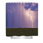 Sunflower Fields Lightning Storm Nature Print Shower Curtain by James BO  Insogna