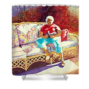 Sunny Retreat 3 Shower Curtain by Kathy Braud