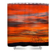 Sunrise In Ithaca Shower Curtain by Paul Ge