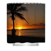 Sunrise In Key West Fl Shower Curtain by Susanne Van Hulst
