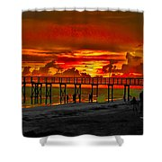 Sunset 4th Of July Shower Curtain by Bill Cannon