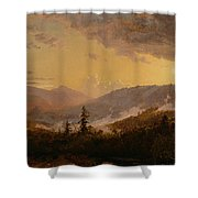 Sunset After A Storm In The Catskill Mountains Shower Curtain by Jasper Francis Cropsey
