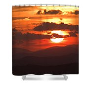 Sunset From The Blue Ridge Parkway Shower Curtain by John Harmon