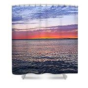 Sunset On Barnegat Bay I - Jersey Shore Shower Curtain by Angie Tirado