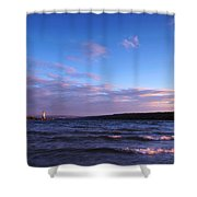 Sunset On Cayuga Lake Ithaca Shower Curtain by Paul Ge