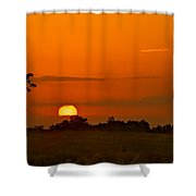 Sunset Over Horicon Marsh Shower Curtain by Steve Gadomski