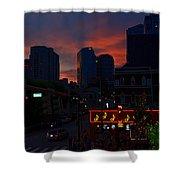 Sunset Over Nashville Shower Curtain by Susanne Van Hulst