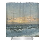 Sunset Over The Sea Shower Curtain by William Pye