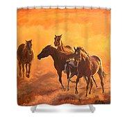 Sunset Run Shower Curtain by Jana Goode