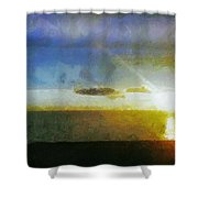 Sunset Under the Clouds Shower Curtain by Jeff Kolker