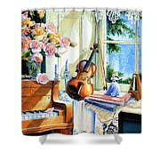 Sunshine And Happy Times Shower Curtain by Hanne Lore Koehler